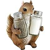 Brown Squirrel Salt and Pepper Shaker Holder Figurine Statue by DWK
