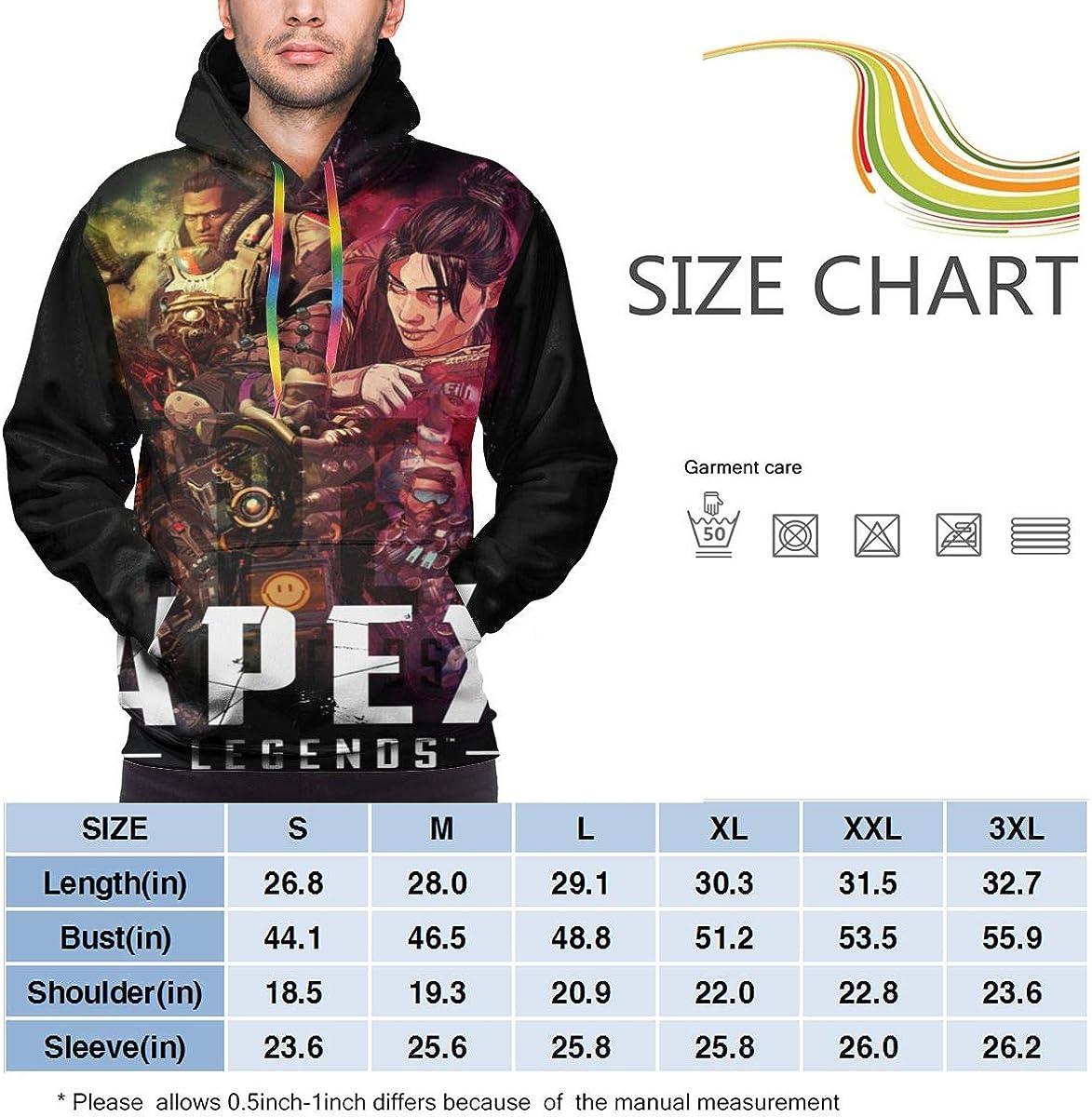 Apex-Legend Fashion Mens Hoodie Printed Sweatshirt Hat Pocket Pullover Casual Sweaters