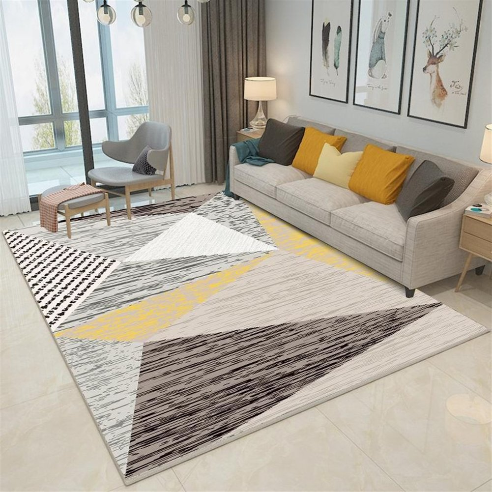 Ommda Teppiche Wohnzimmer Wohnzimmer Wohnzimmer Modern Digitales Geometrie Teppich Farbeful Kurzflor Antirutsch Abwaschbar 140x200cm 9mm B07F8SN98J Teppiche 9b09e0