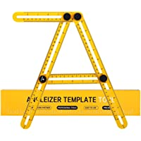 Angleizer Template Tool ID IDAODAN Multi-Angle Measuring Ruler Precision Measurement Accurate Utensil & Protractor for Carpenter Builder Craftsmen and Engineer with Carry Bag