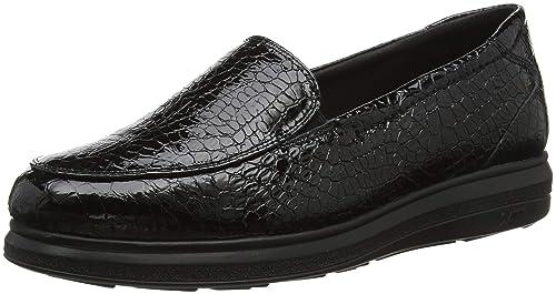 24 HORAS 23730, Mocasines para Mujer, (Negro 7), 36 EU: Amazon.es: Zapatos y complementos