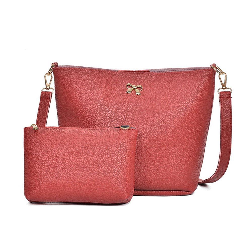 Sac à bandoulière Femmes - Dxlta faux cuir Sac d'épaule avec petit sac de portefeuille de carte