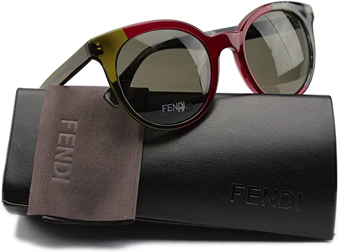 9c670156311 FENDI FF0064 S By The Way Sunglasses Green Gray w Gray (0MXX) 0064 MXX 70  51mm Authentic  Amazon.co.uk  Clothing
