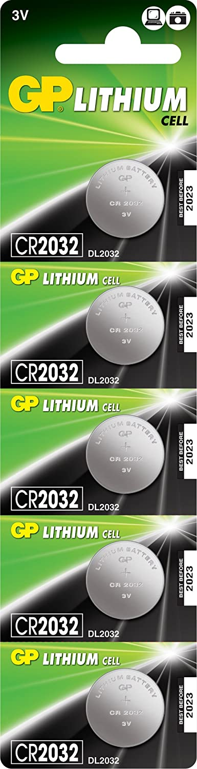 GP Batteries CR2032-C5 Lithium Coin Cell