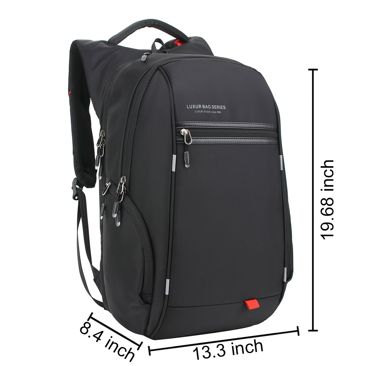 LUXUR 37L Nylon Waterproof Laptop Backpack Casual School Business Travel Daypack
