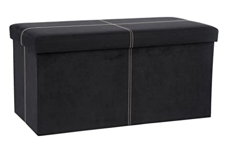 Merveilleux The FHE Group Folding Storage Bench, 30 By 15 By 15 Inch, Black