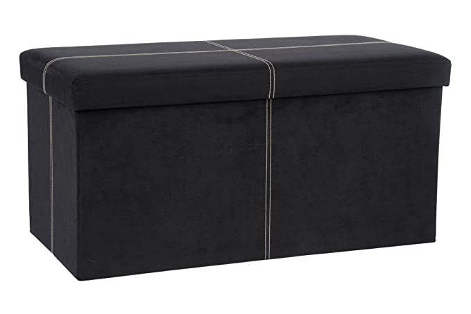 Amazon.com: The FHE Group Folding Storage Bench, 30 By 15 By 15 Inch, Black  Suede: Kitchen U0026 Dining