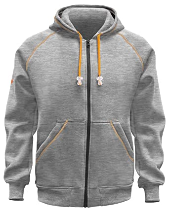 Kermen - warme Kapuzen-Jacke-Pullover, Robustes Langarm-Sweatshirt Hoodie  320 GR - Made in EU - schwarz blau grau  Amazon.de  Bekleidung 5e17803698