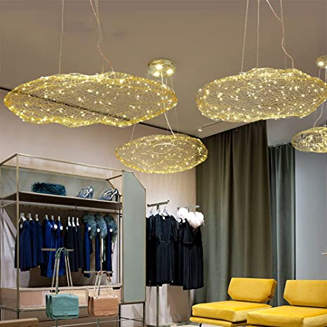 Injuicy Lighting Modern Metal LED Clouds Pendant Hanging Lights Shades Dining Room Ceiling Lamps Fixtures For