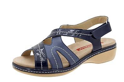 PieSanto Femme Confort Chaussures en cuir 4813 Sandale Semelle intérieure  amovible Grand Confort Robe Chaussures - d90687c4445
