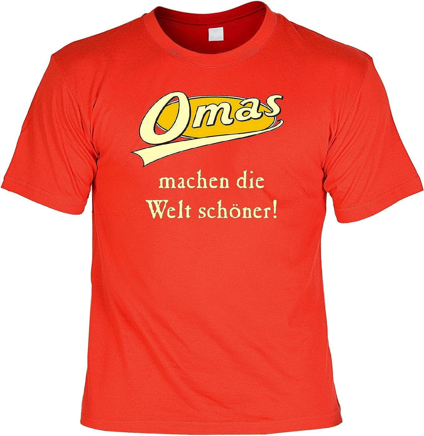 Goodman Design ® Tuerca Día Camiseta – Abuelas Hacen el Mundo Schöner – con Mini Camisa para la Botella: Amazon.es: Ropa y accesorios
