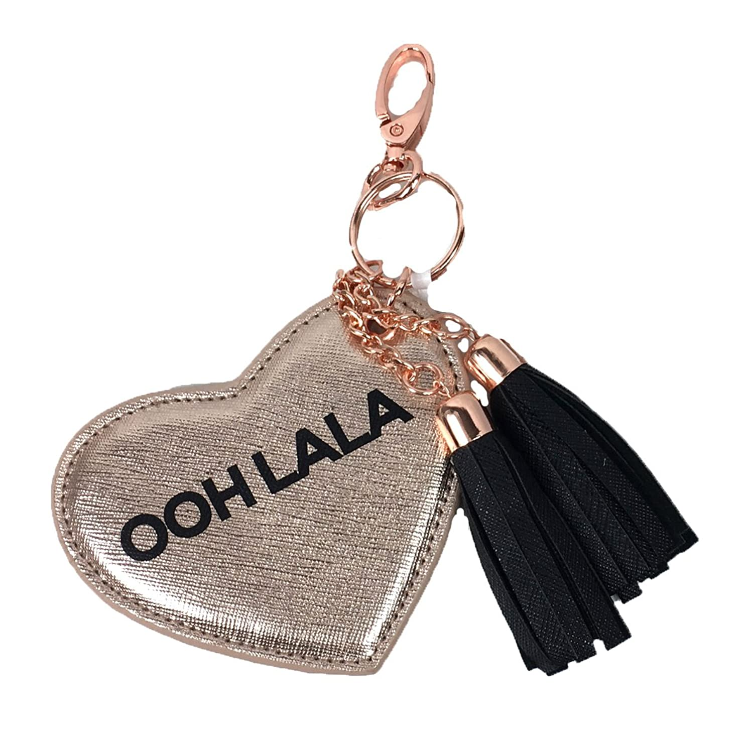 Under One Sky 'Ooh La La' Heart Key Chain Purse Charm, Rose Gold