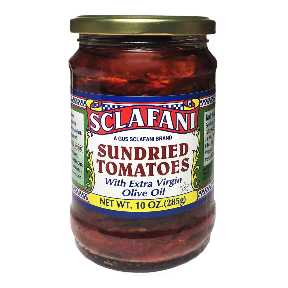 Gus Sclafani Fine Italian Imports Sun Dried Tomatoes in EVOO 10 oz Jar (6 Pack) by Gus Sclafani Fine Italian Imports