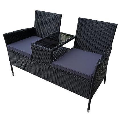 Hengmei Gartengarnitur Polyrattan Gartenmöbel Set Lounge