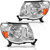 AUTOSAVER88 Compatible with 05-11 Toyota Tacoma Pickup Truck Headlight Assembly OE Style Replacement Chrome Housing…