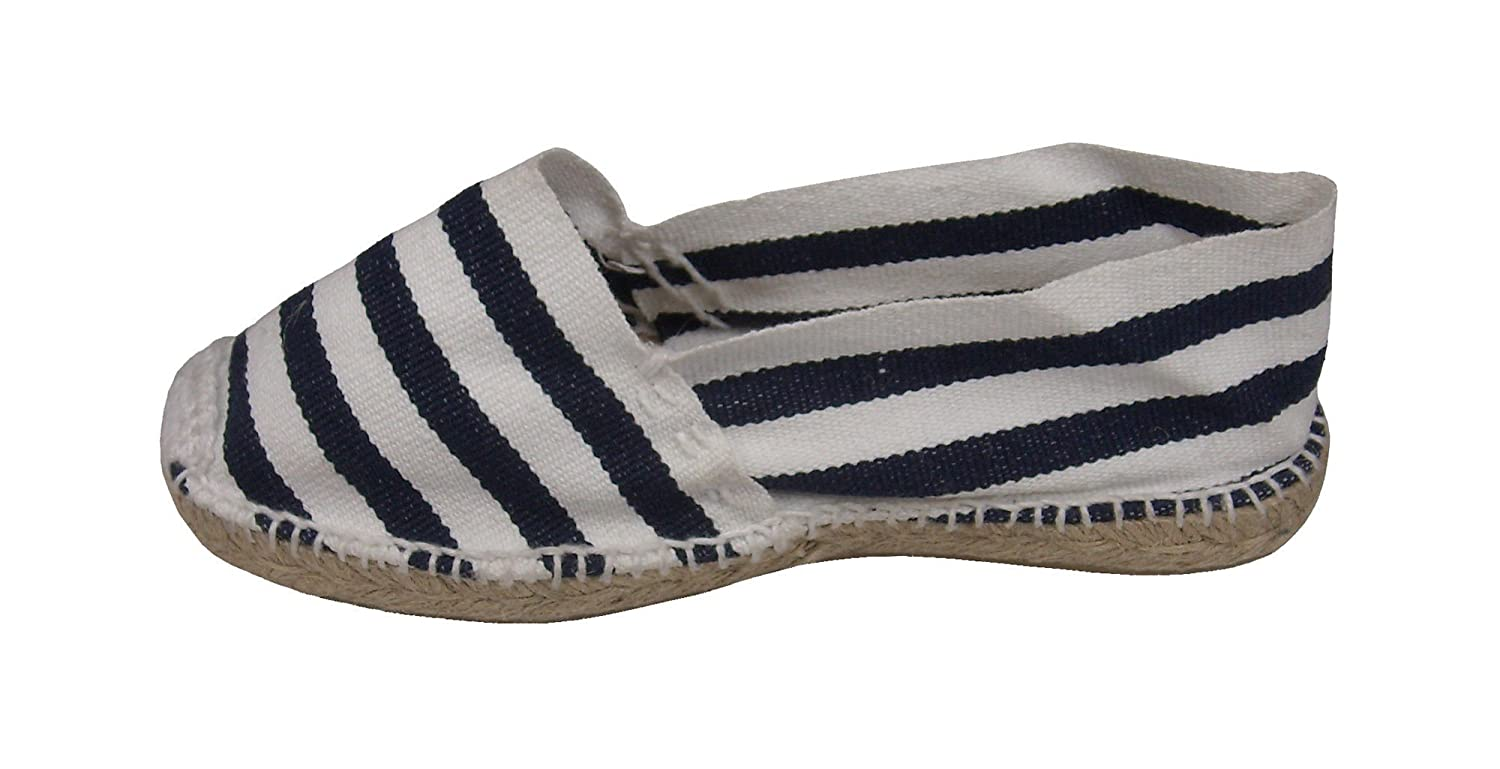 Amazon.com | Alpargatus - Espadrille White Stripes Blue 42 M EU / 9-9.5 DM US White / Blue | Sandals