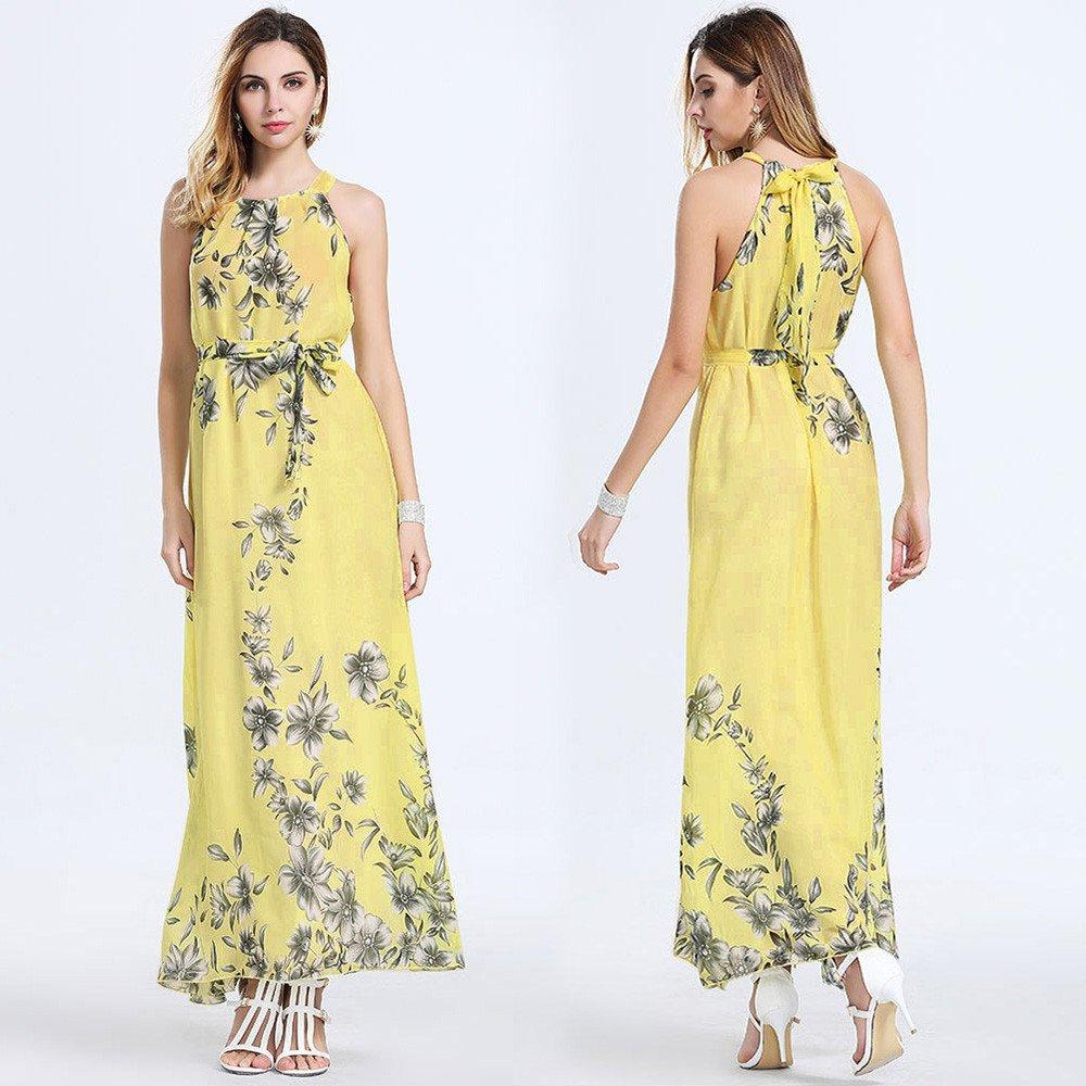 abdccd3a70704 Amazon.com: 〔Dimanul Dress〕Sexy Women's Summer Beach Floral ...