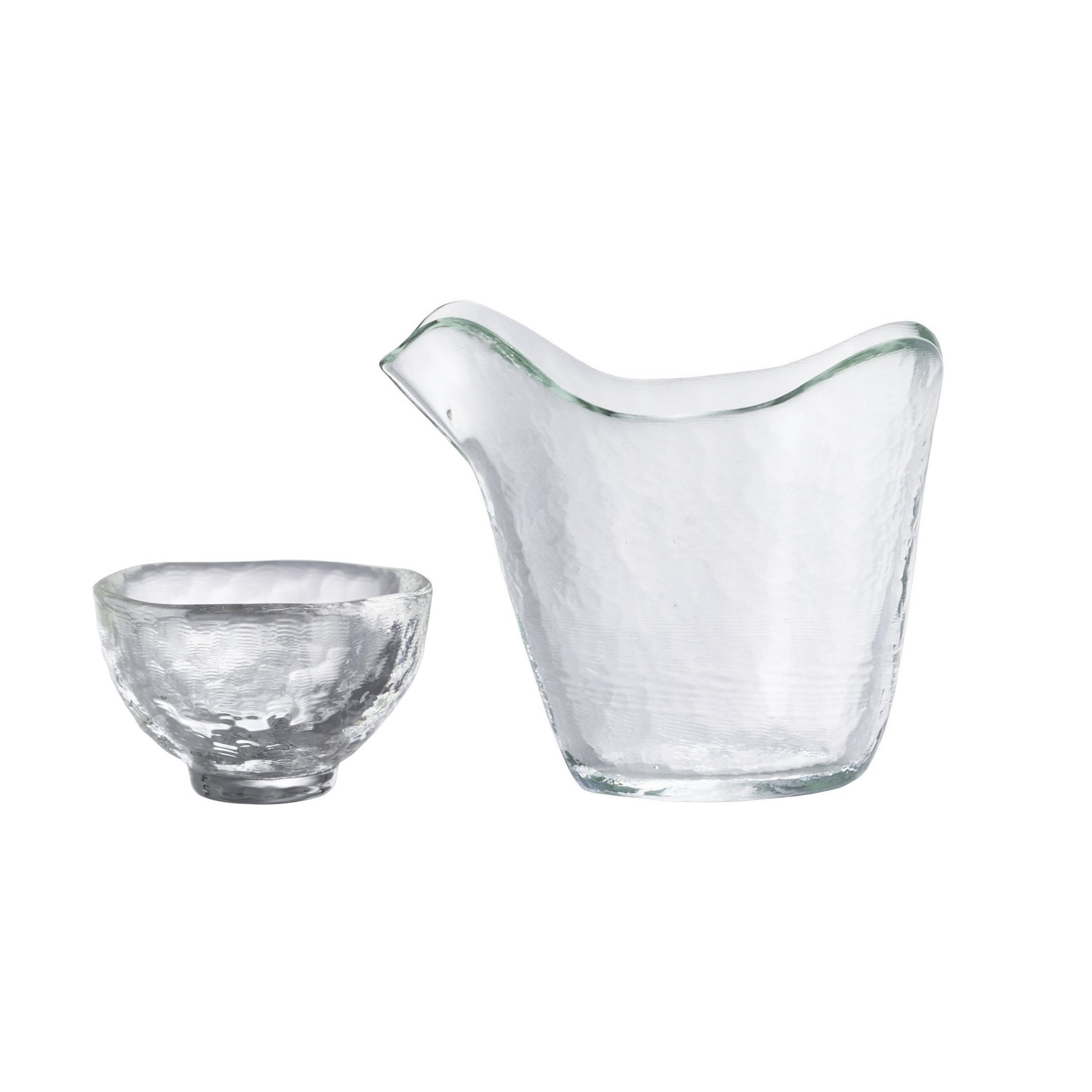 tugaru biidoro Heat-resistant Glass Katakuchi Sake Set