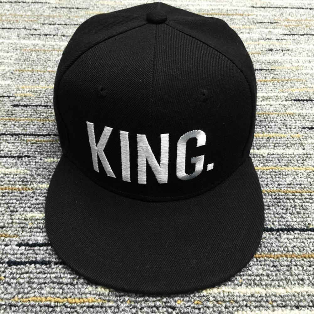 UxradG Snapback Gorra de béisbol con diseño de Letra King Queen Ajustable, Negro, King for Men: Amazon.es: Deportes y aire libre
