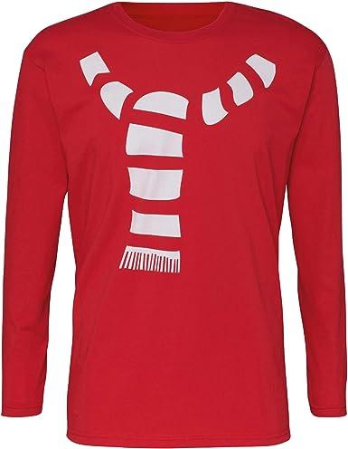 Christmas Shop - Camiseta navideña de Manga Larga diseño de Bufanda para Hombre Caballero: Amazon.es: Ropa y accesorios