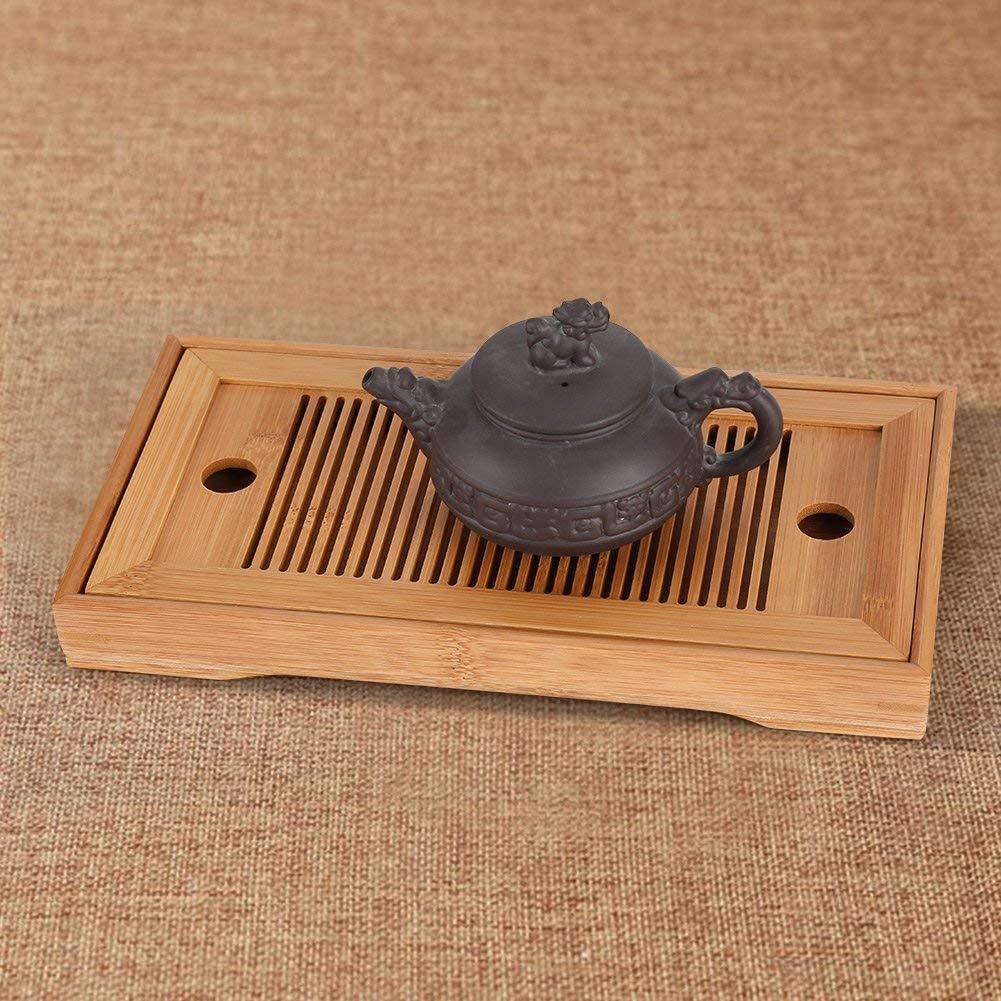 Betrothales Vassoio da t/è Vassoio da Portata Chic Casual Gongfu Cinese Vassoio per Il t/è bamb/ù per La Casa da t/è Home Office Ca 27 X 14 X 3 Cm Color : Colour, Size : Size