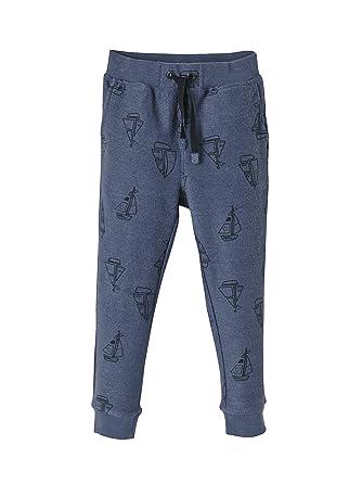 a7ba97be4a828 Vertbaudet Pantalon imprimé garçon en Molleton Marine grisé imprimé ...