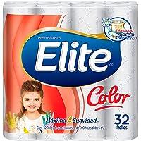 Elite Color Papel Higiénico Doble Hoja 32 Rollos