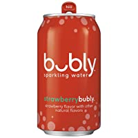 Bubly Sparkling Water, Strawberry, 12 fl oz Cans (18 Pack)