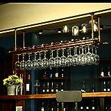 Stemware Holder Soportes para Copas Soporte De Copa De Vino Colgante Colgador de Vino Colgante Altura Ajustabl Botellero Negro 100 /× 31cm en el Techo Estante para Bares restaurantes cocinas RENEO
