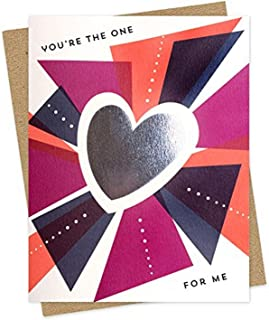 product image for You're the One Love Foil-Stamped Love Card by Night Owl Paper Goods