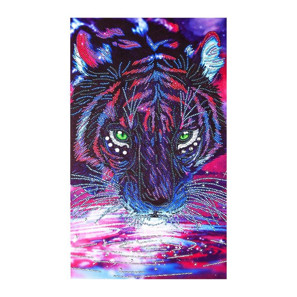 5D DIY Special-Shaped Drill Diamond Painting Tiger Cross Stitch Embroidery AMAZING DEAL