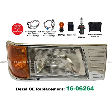 Headlight With Adjusters And Corner Lamp And