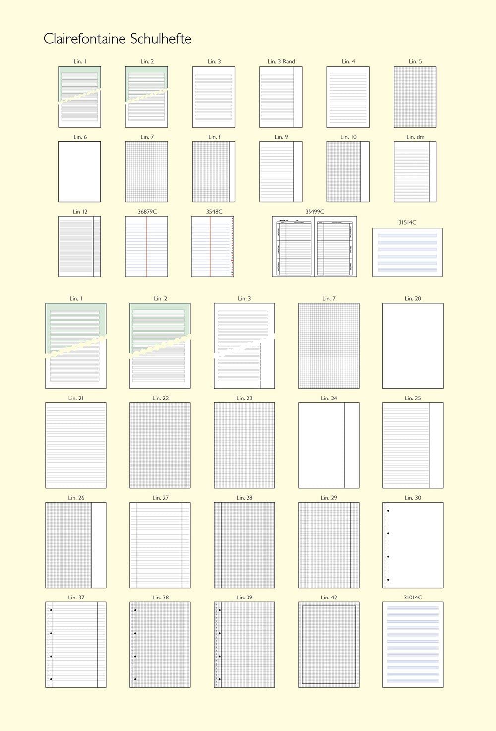 200 Sheets S/éy/ès Ruled White Clairefontaine A4 Single Sheets Multi-Punched