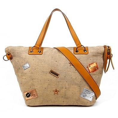 c5dea4064ace LeahWard Women s Canvas Tote Bags Men s Kid s Large Shoulder Bag Handbags A4  160165 (APRICOT TOTE