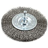 4-Inch-by-. Fine Crimped with 1//4-Inch Hex Shank Forney 72740 Wire Wheel Brush
