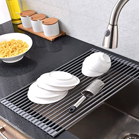 Superbe Comllen Best Large Commercial Kitchen Folding Small Mat Over The Sink Roll Up  Drying Rack