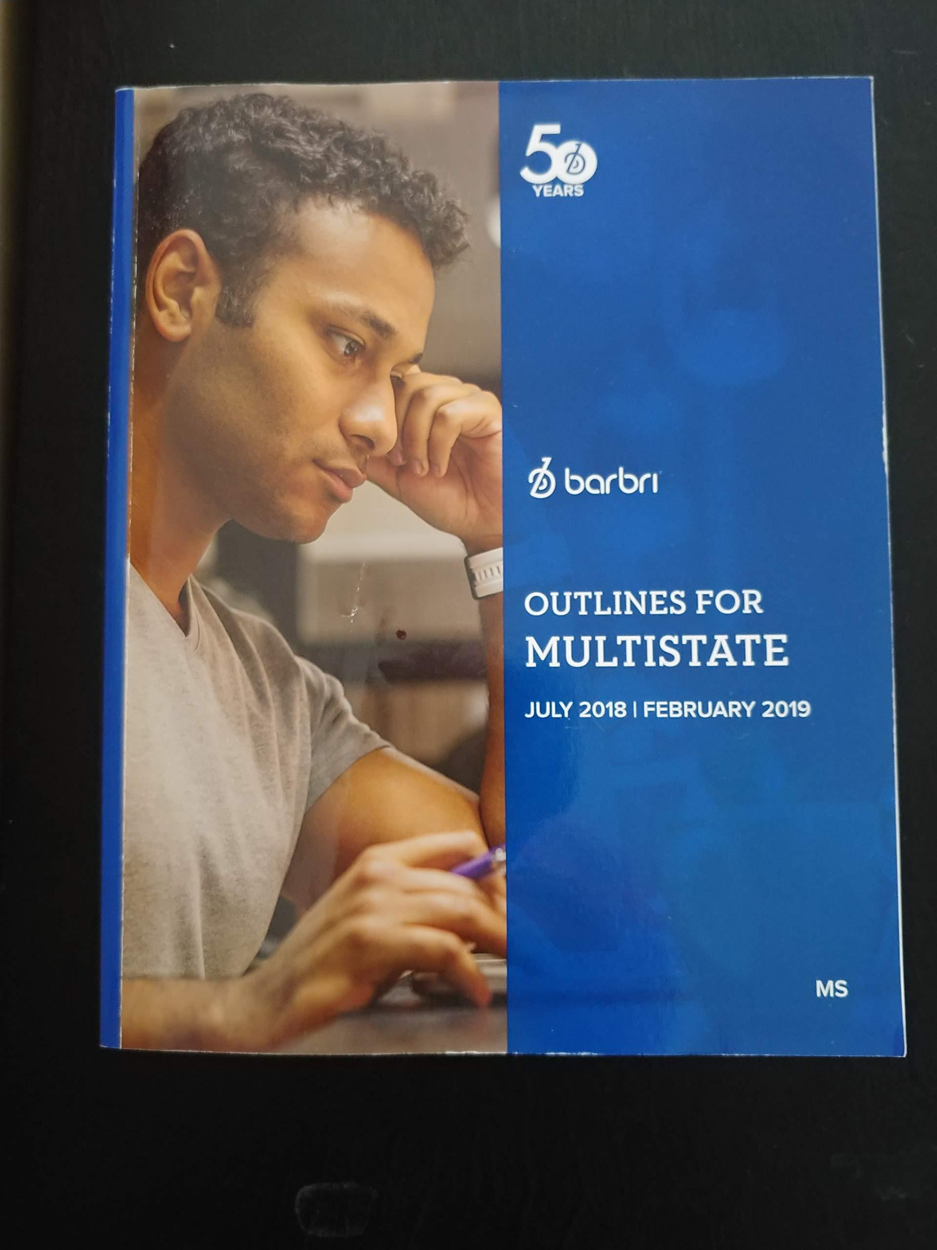 Outlines for Multistate (July 2018/Feb 2019 Bar Exam): Inc  Barbri