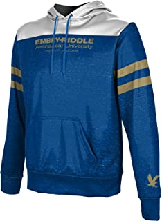 Structure School Spirit Sweatshirt Embry-Riddle Aeronautical University Worldwide Mens Pullover Hoodie