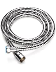 U-BCOO Bathroom Stainless Steel Shower Hose (2M Hose) - for Hand Shower - Braided Inner Tube Extra Long Explosion-Proof - Chrome Finish