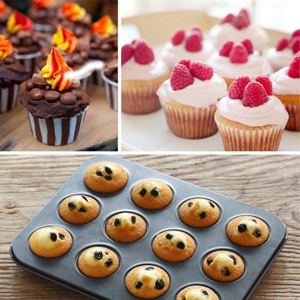 NARCE 8-Piece Nonstick Bakeware Set | Chef Favorites:Nonstick Baking Sheets,Loaf,Muffin,Pizza Pan,Pie Pan,Springform| by NARCE (Image #3)