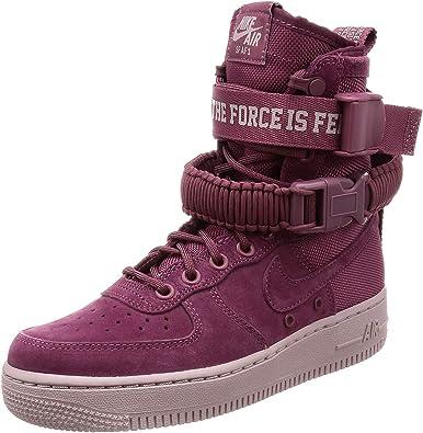 entrega Microbio Adepto  Amazon.com: Nike Sf Air Force 1 - Botas para mujer, Morado, 5: Shoes
