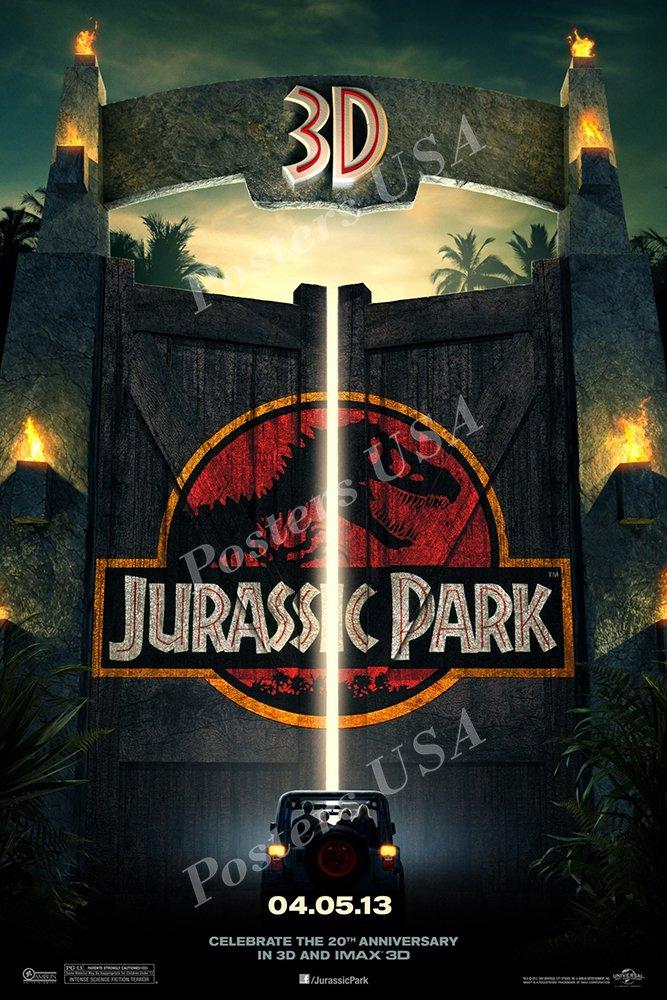 "Posters USA Jurassic Park Original Movie Poster GLOSSY FINISH - MOV294 (24"" x 36"" (61cm x 91.5cm))"
