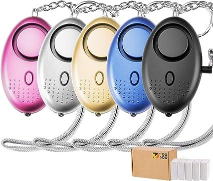 Amazon.com: TOODOO 130DB alarma personal, paquete de 5 ...