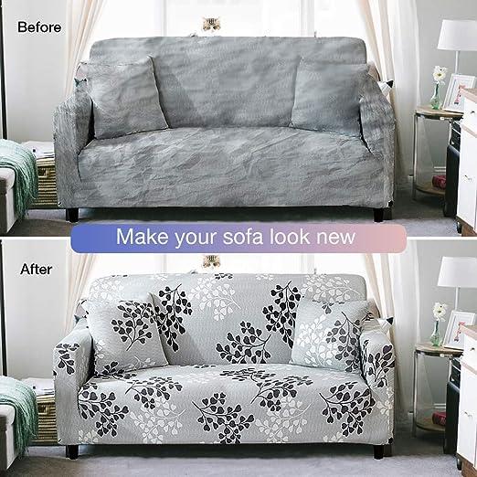 Amazon.com: Bikuer Funda de sofá estampada, funda de sofá ...