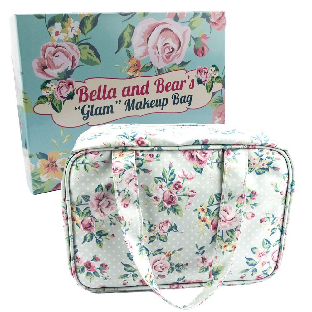 Cute Floral Makeup Bag for Travel and Home Perfect For Your Makeup and Cosmetics