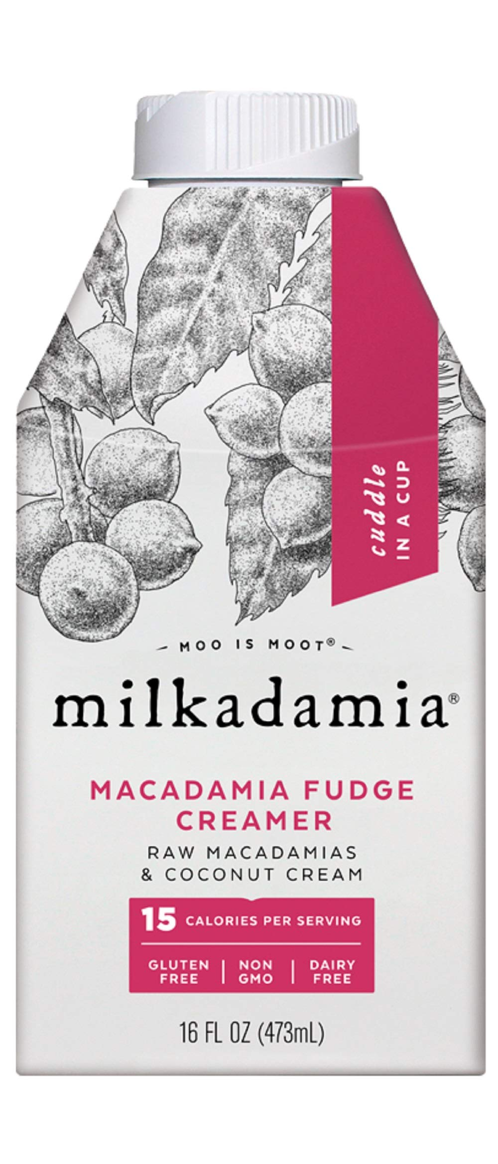 Milkdamia Macadamia Fudge Creamer With Raw Macadamias & Coconut Cream,, 16 Fl Oz (pack Of 6) by Milkdamia