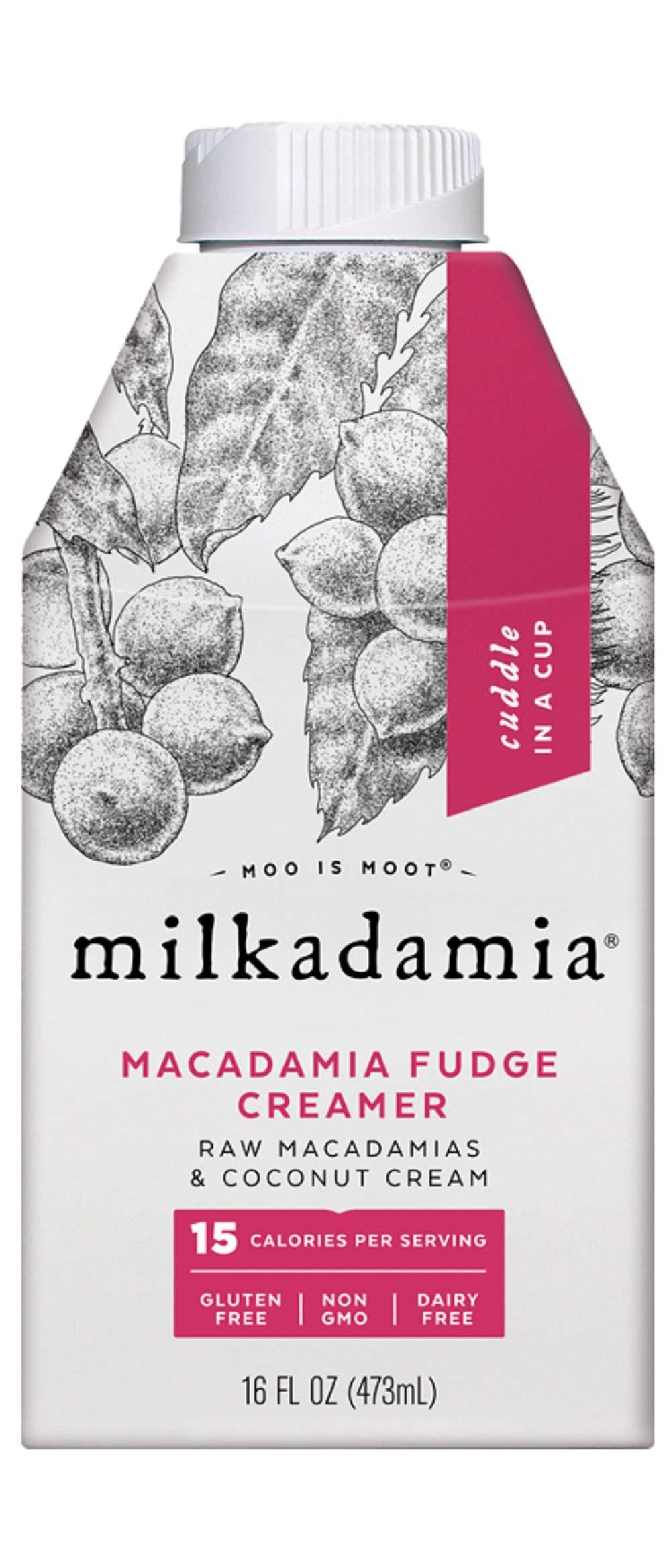 Milkdamia Macadamia Fudge Creamer With Raw Macadamias & Coconut Cream,, 16 Fl Oz (pack Of 6)