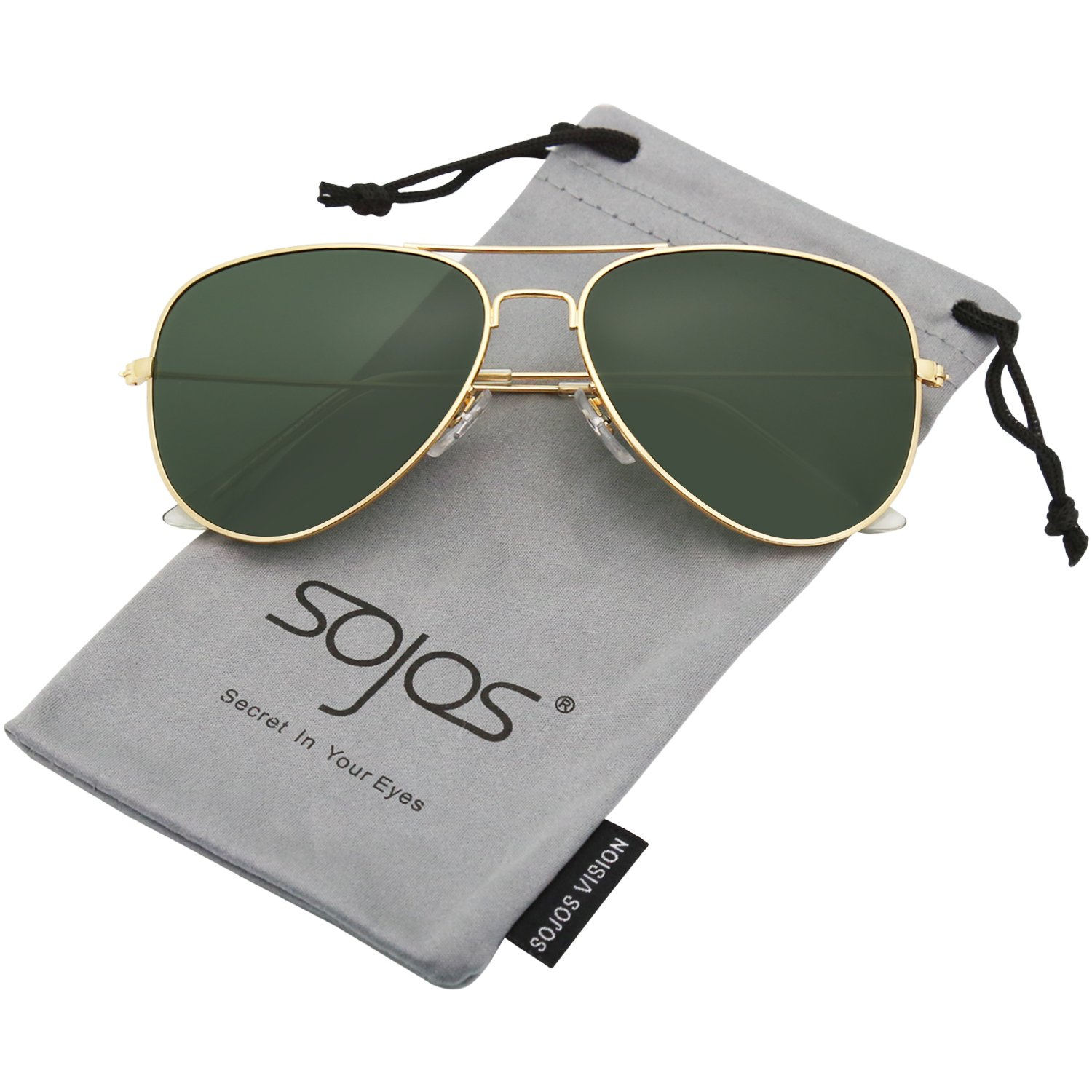 1b670d67fc46f SOJOS Classic Aviator Polarized Mirrored Sunglasses with UV400 Lens and  Gold Frame for Men  Amazon.in  Clothing   Accessories