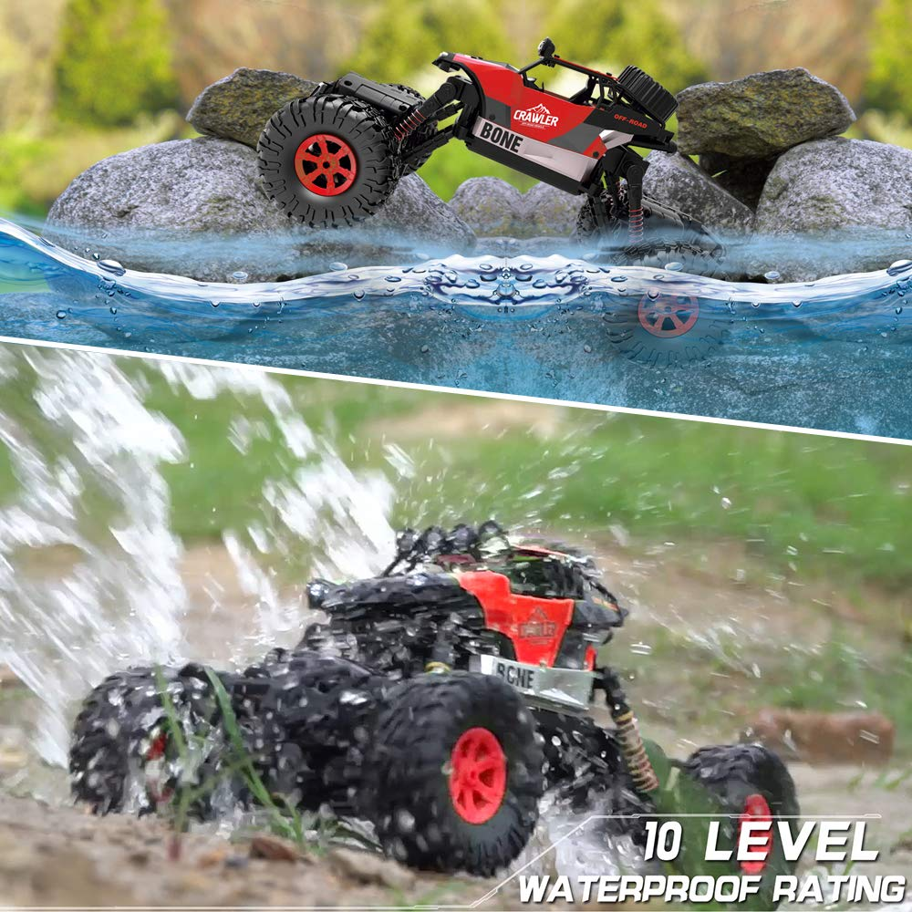 Gizmovine RC Cars 4WD Rock Crawler Large Size Boys Remote Control Cars and Trucks 2.4Ghz Transformer Toy Electronic Monster Truck R/C Off Road for Kids, 2019 Update Version (Red) by Gizmovine (Image #2)