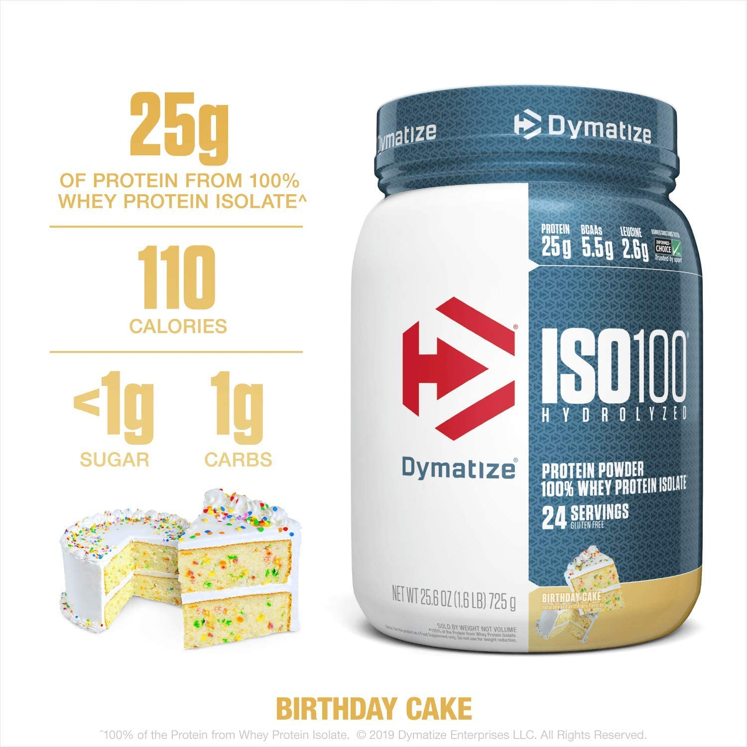 Astounding Dymatize 732 G Birthday Cake Iso 100 Supplement Amazon Co Uk Funny Birthday Cards Online Alyptdamsfinfo